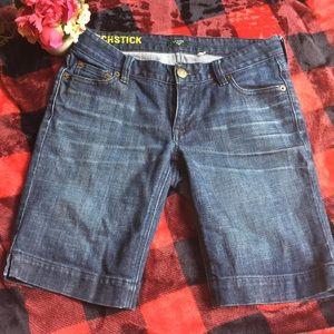 J crew matchstick Bermuda long jean denim shorts 2